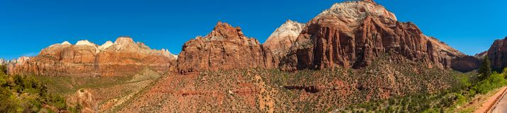 Panoramablick von Zion National Park, Utah Stockbild