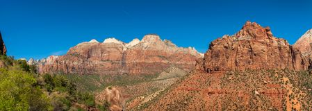 Panoramablick von Zion National Park, Utah Stockbilder