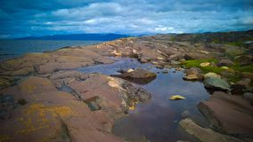 Panoramablick zu Altafjorden, finnmark, Norwegen Lizenzfreie Stockfotos