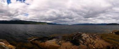 Panoramablick zu Altafjorden, finnmark, Norwegen Lizenzfreie Stockbilder
