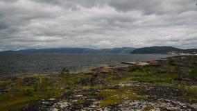 Panoramablick zu Altafjorden, finnmark, Norwegen Stockfotos