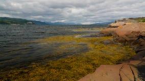 Panoramablick zu Altafjorden, finnmark, Norwegen Lizenzfreie Stockfotografie