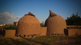 Panoramablick zu Bkonni-Dorf von Hausaleuten, Tahoua, Niger Lizenzfreie Stockfotografie
