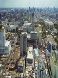 Panoramablick zu den Bangkok-Skylinen Lizenzfreie Stockbilder