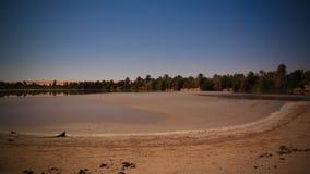 Panoramablick zum Teguedei See beim Ennedi, Tschad stockfoto