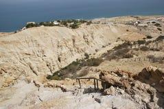 Panoramablick zum Toten Meer Stockfoto
