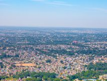 Panoramablick zur Stadt von Mysore, Indien stockbilder