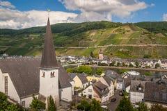 Panoramablicke der Dörfer von Kaimt und von Zeel stockbilder
