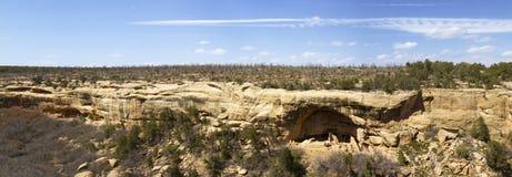 Panoramablicke von Cliff Dwellings in Mesa Verde National Park Lizenzfreies Stockfoto