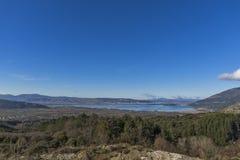 Panoramablicke von Ioannina See, Epirus Stockfoto