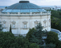 Panoramabyggnad i Sevastopol Royaltyfria Bilder