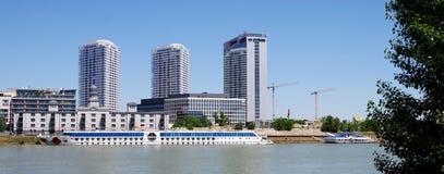 Panoramacity in Bratislava stockfoto