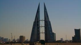 Panoramacityscapesikt till den Manama staden, Bahrain Arkivfoto