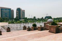 Panoramaemirater, Abu Dhabi, UAE Arkivbilder