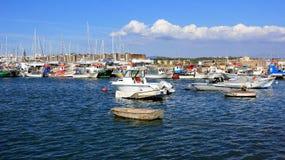 Panoramafiskehamn royaltyfria foton
