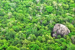 Panoramafrom Sigiriya, Sinhagiri en Dambulla, Sri Lanka imágenes de archivo libres de regalías