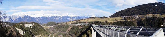 Panoramagezicht Tirol stock afbeeldingen