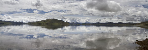 Panoramagram of Yamdrok Lake Royalty Free Stock Photography