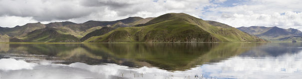 Panoramagram of Yamdrok Lake Royalty Free Stock Photo