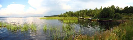 panoramahavskust Royaltyfri Fotografi