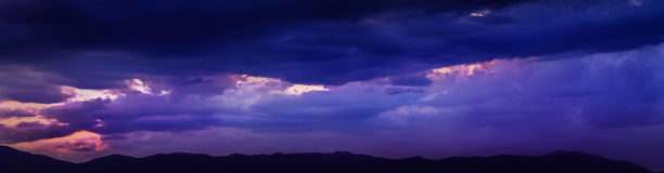 Panoramahimmel Arkivfoto