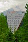 Panoramahotell på Strbske Pleso, höga Tatras, Slovakien Arkivbild