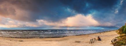 Panoramaic image. Coastal landscape, Baltic Sea, Europe Stock Photo