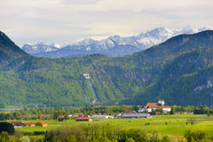 Panoramalandschaft im Bayern Stockfoto