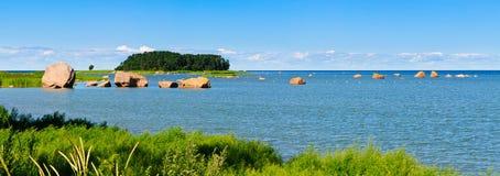 Ostsee des Panoramas Lizenzfreies Stockfoto
