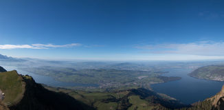 Panoramalandschaftnatur Lizenzfreies Stockfoto