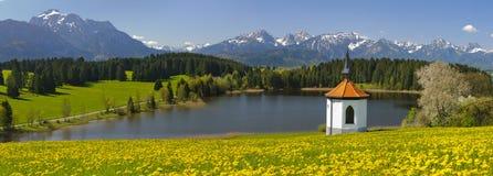 Panoramalandskap i bavaria royaltyfri fotografi