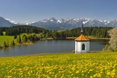 Panoramalandskap i bavaria royaltyfria bilder