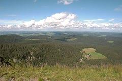 Panoramalandskapsikt över Tyskland för svart skog Royaltyfri Fotografi