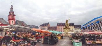 Panoramamarkt Stockfotos