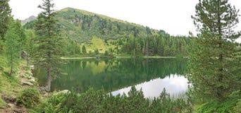 Panoramameer Scheibelsee Stock Foto's