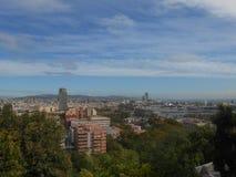 Panoramamening aan haven in Barcelona Royalty-vrije Stock Afbeeldingen