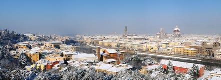 Panoramamening in de Winter in Florence stock fotografie