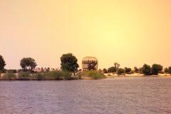 Panoramamening van al-KUDRA meer Doubai, de V.A.E op 28 Juni 2017 Stock Fotografie
