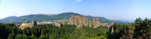 Panoramamening van Belogradchik-rotsen Stock Afbeelding