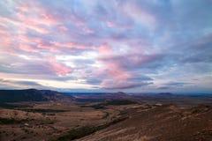 Panoramamening van de bergen Macin, Roemenië stock foto