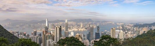 Panoramamening van de piek: Hong Kong stock fotografie