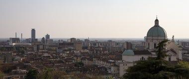 Panoramamening van de stad van Brescia stock fotografie