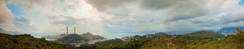Panoramamening van het zijgebied van het land van Azië Royalty-vrije Stock Foto's