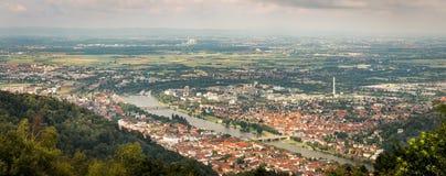 Panoramamening van Königstuhl in Heidelberg, Baden-Wuertemmberg, Duitsland stock afbeelding