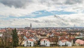 Panoramamening van Regensburg, Duitsland Stock Foto's