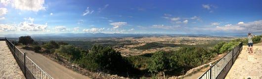 Panoramamening van Santuari DE Curaoutdoors, Mallorca, Spanje stock foto