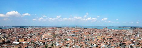 Panoramamening van Venetië stock afbeeldingen