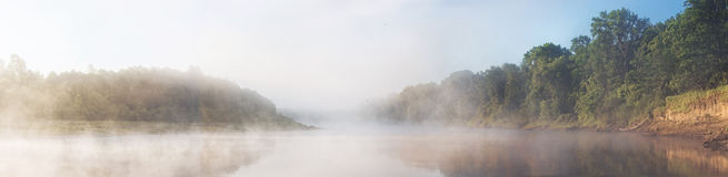 Panoramamorgenfluß Lizenzfreies Stockbild