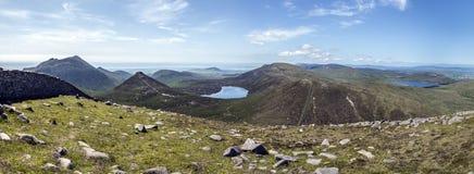 PanoramaMourne berg norr Irland Arkivbilder
