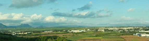 Panoraman auf candos Hügel Stockbild